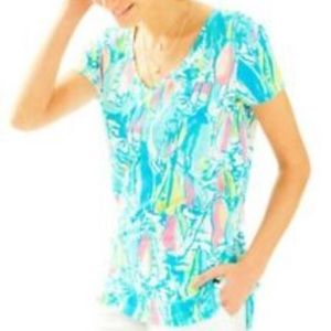 LILLY PULITZER MEREDITH TOP, Sz. M, Beach and Bae